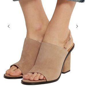 🤩 Alexander Wang Cole Slingback Suede Sandals 7.5
